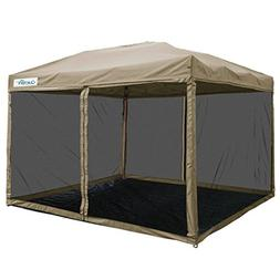 Quictent 10x10 Ez Pop up Canopy with Netting Screen House Te