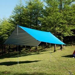 Tent Tarp Waterproof Rain Fly Canopy Hammock Outdoor Camping