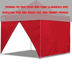 Eurmax Two Sidewalls for 10 X 10 Pop up Canopy Party Tent In