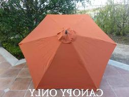 9ft Umbrella Replacement Canopy 6 Ribs in Terra Cotta
