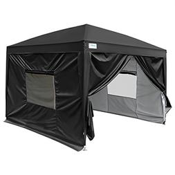 Quictent Upgraded 10x10 EZ Pop Up Canopy Tent Instant Foldin