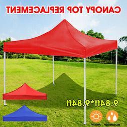 US 10x10ft Waterproof Canopy Top Replacement Patio Outdoor S
