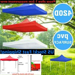 US STOCK 10x10ft Canopy Top Replacement Patio Gazebo Outdoor