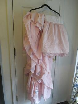 Vintage Shabby Chic  Pink White Check- Canopy Bed Cover/ BED