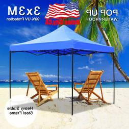 Waterproof 10x10 Commercial EZ Pop Up Canopy Outdoor Instant