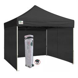 Waterproof 10x10 Ez Pop Up Canopy Outdoor Vendor Tent W/ Enc