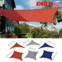 Waterproof Canopy Sun Shade Sails UV Protection Top Cover Su