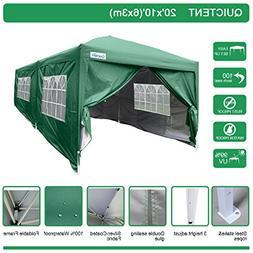 Quictent Waterproof 20x10' EZ Pop Up Canopy Gazebo Party Ten