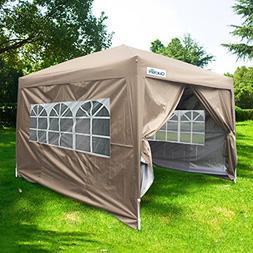 Quictent Waterproof 10x10' EZ Pop Up Canopy Gazebo Party Ten