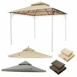 Water Resistant Gazebo Top Canopy Replacement 2-Tier UV30 Pa