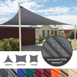 Waterproof Sun Shade Sail UV Patio Outdoor Top Canopy Rectan