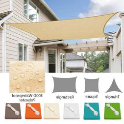 Waterproof Sun Shade Sail UV Patio Outdoor Top Canopy Rectan