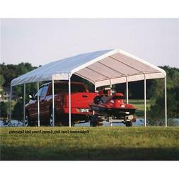 ShelterLogic 12x26 Feet Outdoor White Canopy Replacement Cov