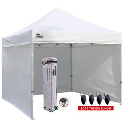 White Canopy Tent with Sidewalls Commercial Craft Fair 10 X