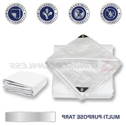 White Heavy Duty 10 mil Tarp Reinforced Resistant Cover Tent