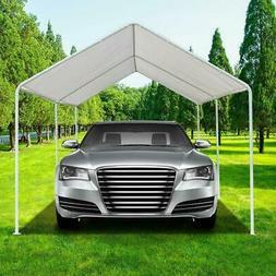 White Heavy Duty Garage Canopy Tent 10x20 FT Steel Carport P