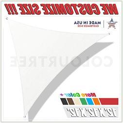 ColourTree 12' x 12' x 12' White Triangle Sun Shade Sail Can