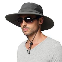 EINSKEY Men's Waterproof Sun Hat, Outdoor Sun Protection Buc