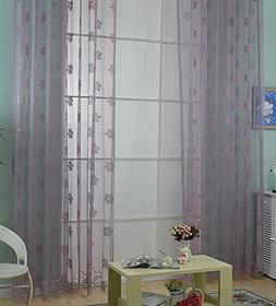 Aside Bside Woven Jacquard Design Sheer Curtains Rod Pocket