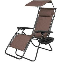 Best Choice Products Zero Gravity Chair w/ Canopy Shade & Ma